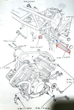 エンジンマウント図
